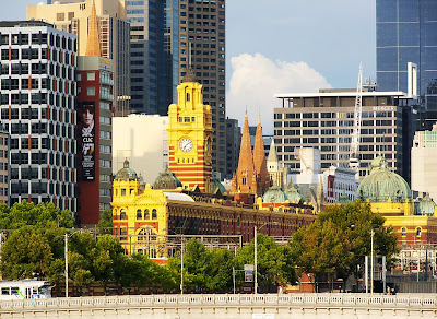 Flinders Street Station and surrounds, Melbourne