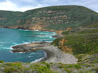 The Remarkable Cave area, taken from the track towards Maingon Blowhole and Mount Brown - 19th August 2008