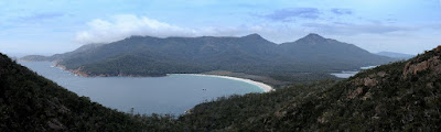 Wineglass Bay, Mt Graham and Mt Freycinet from the Saddle Lookout - 19th September 2009