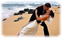 Молодожёны, поцелуй, свадьба, пляж, море, песок