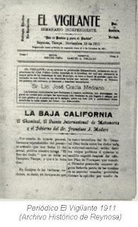 Periodico El Vigilante 1911
