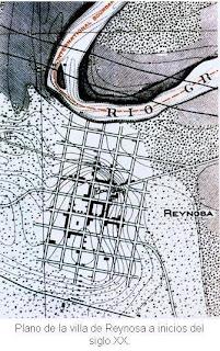 Plano Villa de Reynosa inicios siglo XX