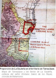 Proporcion de La Sauteña en territorio de Tamaulipas
