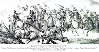 Escena de guerra mediados siglo XIX