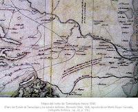 Mapa del Norte de Tamaulipas hacia 1840