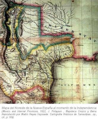 Mapa Noreste Nueva Espana