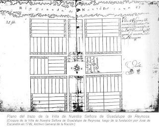 Plazo del trazo Villa de Nstra Sra de Guadalupe Reynosa