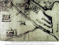 Mapa del Noreste Nueva Espana siglo XVII