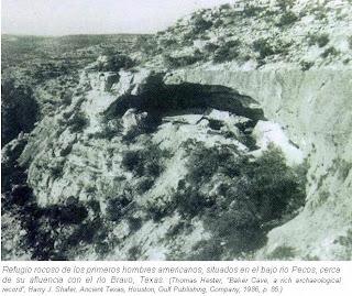 Refugio rocoso primeros hombres americanos