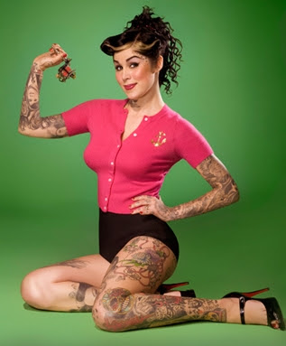 Celebrity Tattoos Wallpaper: kat van d tattoos. Kat Von D