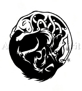 Tattoo Ying Yang Black Dragon