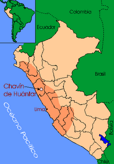 IMAGEN DEL MAPA DE LA CULTURA CHAVIN