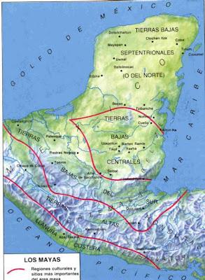 MAPA DE LA CULTURA MAYA (Sitios mas importantes de Maya)