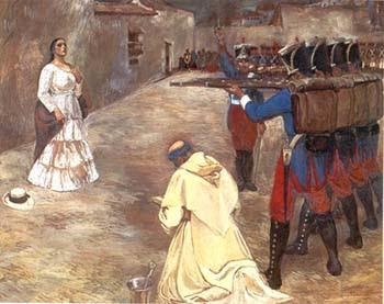 María Parado de Bellido en su fusilamiento
