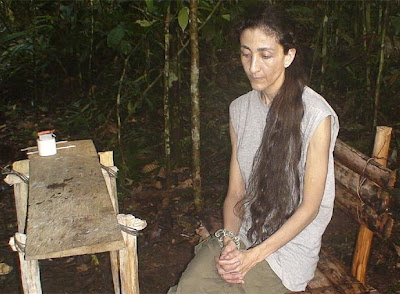 Ingrid Betancourt estando secuestrada