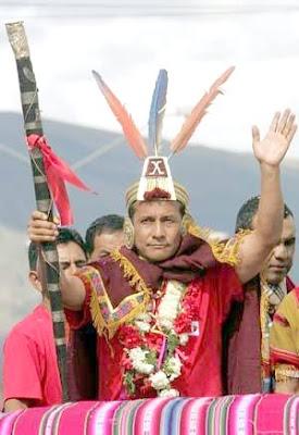 Ollanta Humala vestido de inca