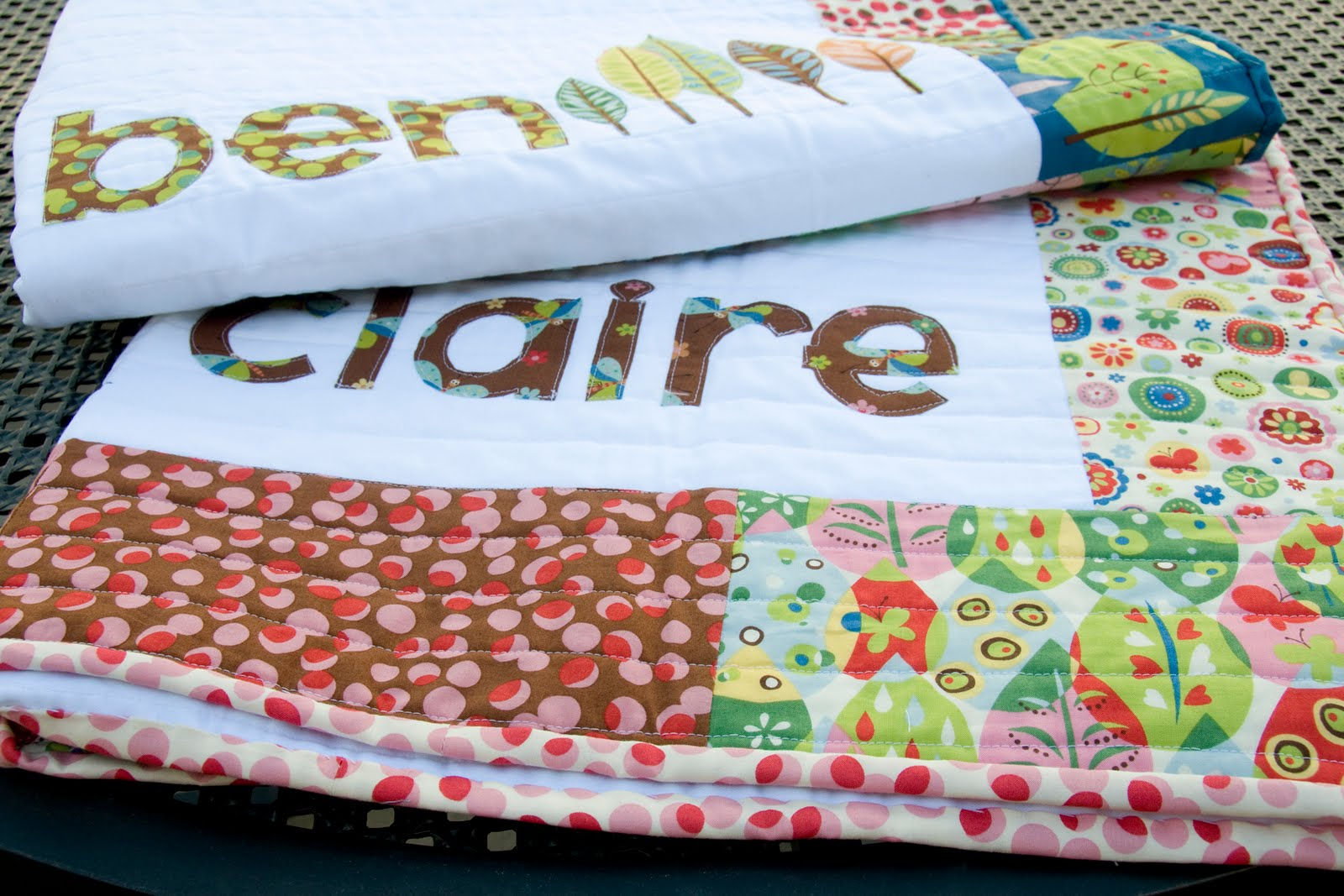 Online Inspiration His Amp Hers Personalized Baby Quilts