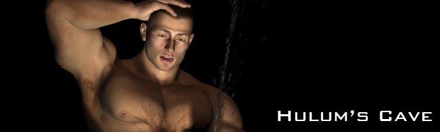 Hulum's Cave: erotic male muscle growth