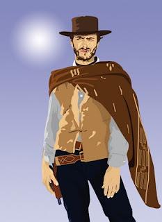 portrait vectoriel Clint Eastwood