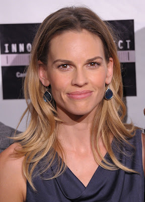 Hilary Swank Dangling Gemstone Earrings