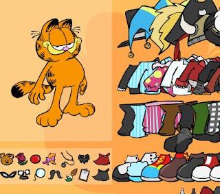 guego para bestir al jato Garfield