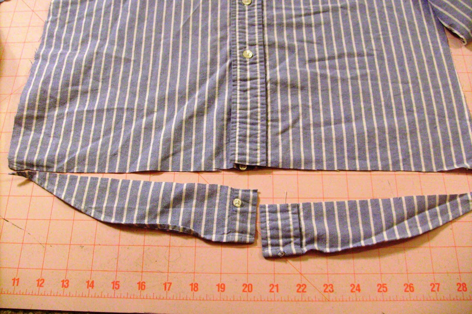 Как из мужской рубашки сделать женскую рубашку? 72
