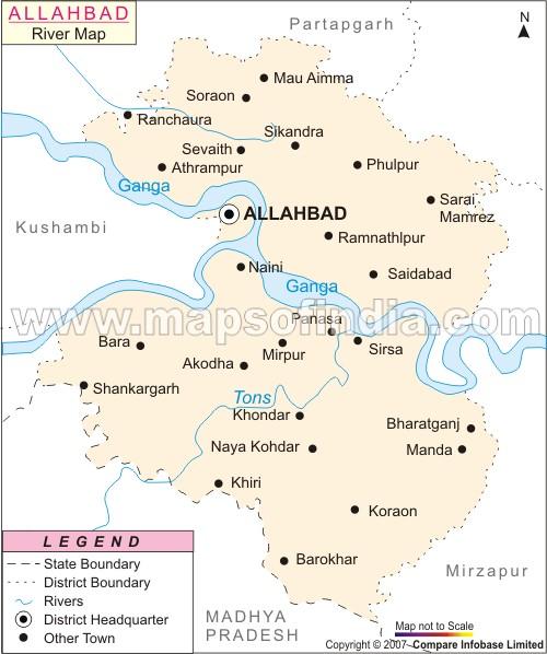 Apna Allahabad River Map Of Allahabad - Allahabad map