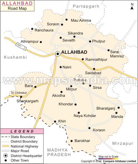 Apna Allahabad Road Map Of Allahabad - Allahabad map