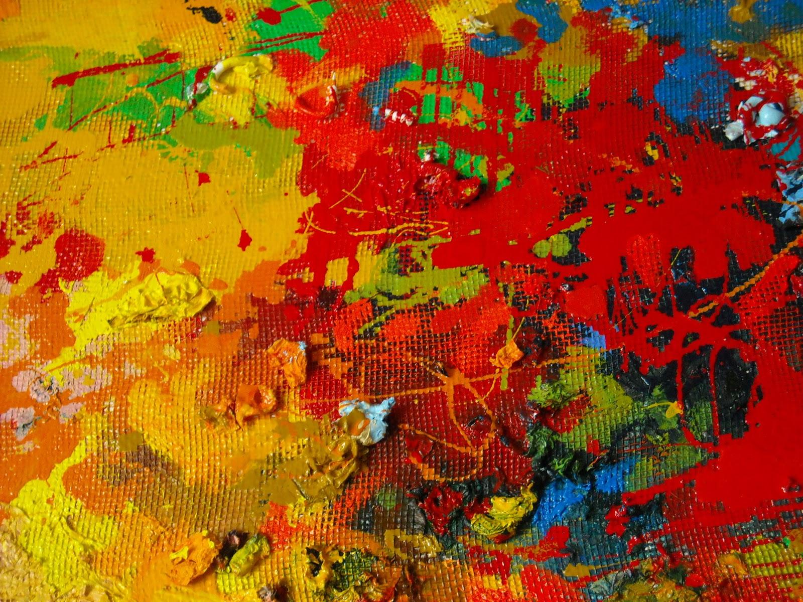 Parlando darte: quadro astratto tecnica mista su tela 35x50