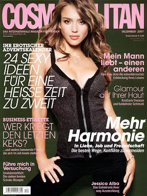Jessica Alba Cosmo Magazine Cover