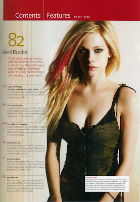 Avril Lavigne Pics from Maxim