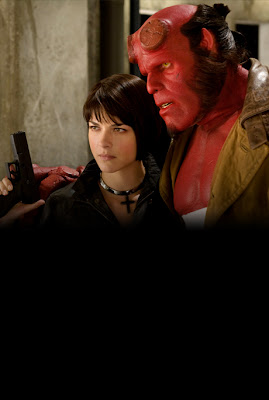 Selma Blair and Ron Pearlman in Hellboy 2