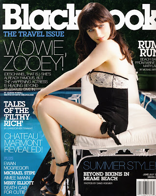 Zooey Deschanel Blackbook Magazine Cover