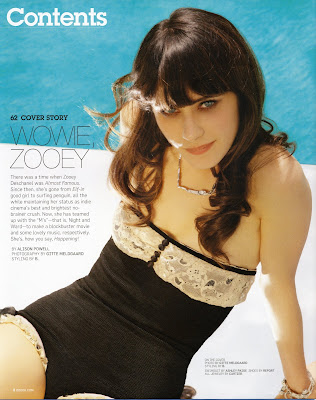 Zooey Deschanel in Blackbook Magazine