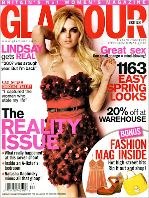 Lindsay Lohan Pictures from UK Glamour Magazine