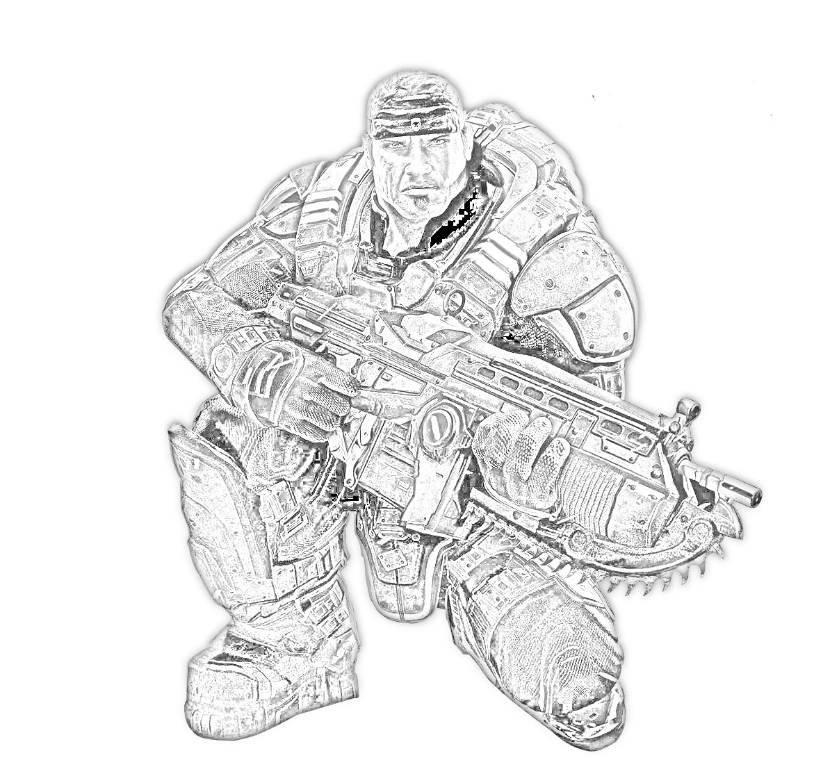 Gears of war 2 coloring pages