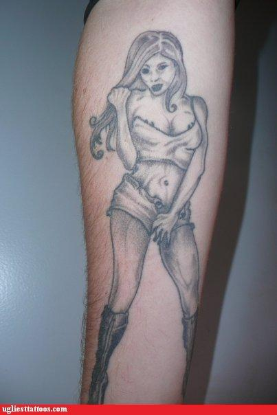 """Bad (Not Bad Ass) Tattoo"" : Unsexy Woman"