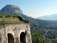 バスティーユ城塞から見るモン・ブラン