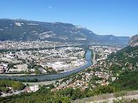 バスティーユ城塞から見下ろすグルノーブルの町