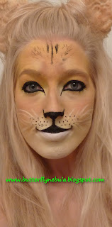How to Face Paint a Lion (or Lioness) - YouTube