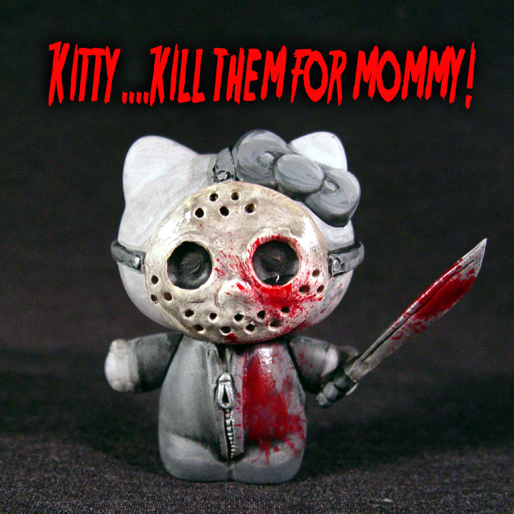 HELLO KITTY  Y SU LADO OSCURO - Página 2 Hello_Kitty_Friday_13th_Jason_by_Undead_Art
