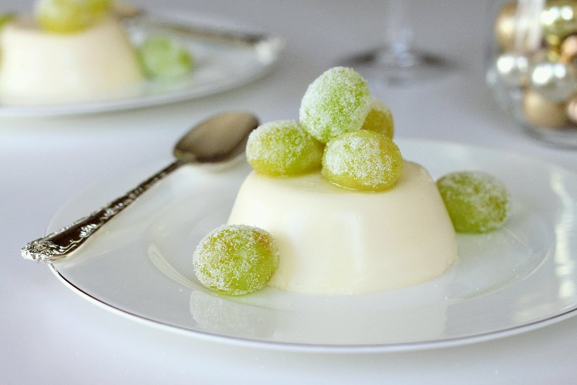 Champagne Panna Cotta with Sugared Grapes | Shauna Sever | The Next ...