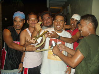 Happiness, friends, and snake