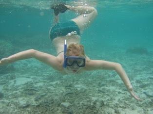 Betsy snorkeling