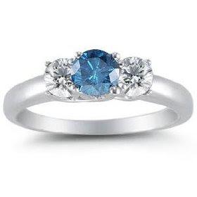 Wedding Rings Blue Diamond 78 Fresh K White Gold Round