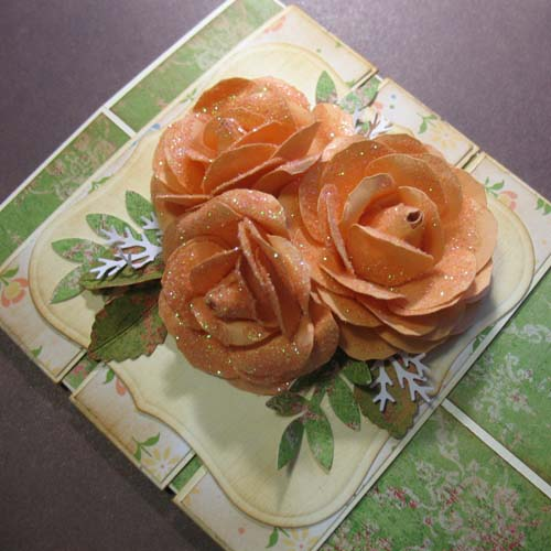 Роза из бумаги для скрапбукинга