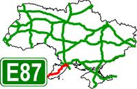 European Route Road E-87 - Европейский автомобильный маршрут Е87