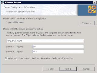 Server Configuration Informatio