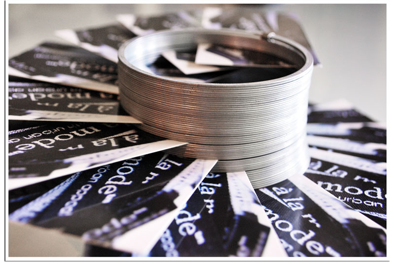 alamode Stuff DIY Slinky business card holder display