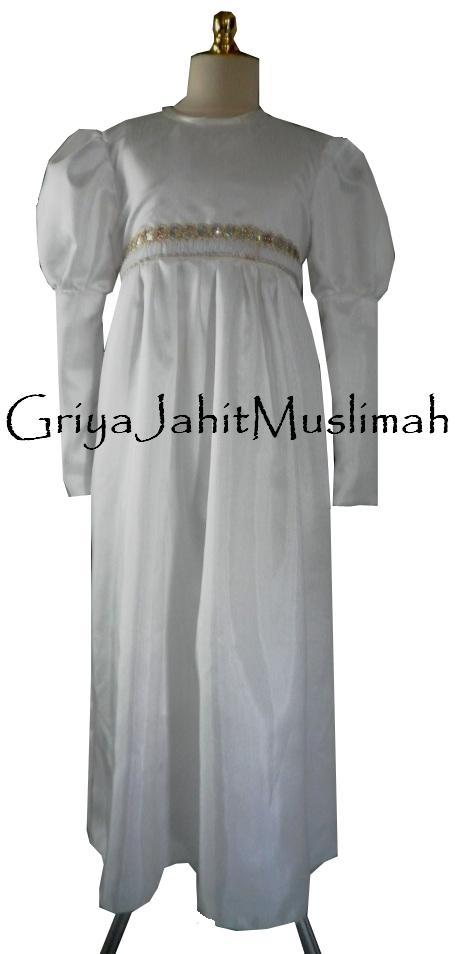 Griya Jahit Muslimah Gamis Putih Anak